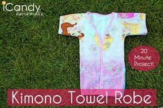 DIY Kimono Towel Robe - iCandy handmade