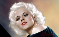 Jean Harlow – Color by Klimbim Vintage Hollywood, Classic Hollywood, Jean Harlow Death, Baby Jeans, Vintage Girls, Vintage Glamour, Vintage Beauty, Platinum Blonde, Hollywood Stars