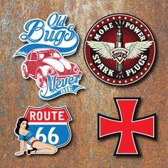 Beetle Sticker Set Retro Classic Vintage Car VW Bug Route 66 Volkswagen Decal