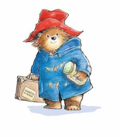 """Embroidery Color Guide for Paddington Bear. His Tag Reads, """"Please Look After This Bear"""". Paddington Bear Books, Paddington Bear Party, Tatty Teddy, Teddy Bear, Illustration D'ours, Book Illustrations, Art D'ours, Bear Character, Bear Drawing"""