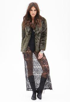 Eyelash Lace Maxi Dress   FOREVER21 - 2000057159