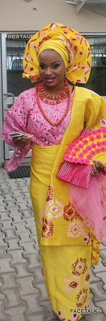 Yellow and Pink ~African Prints, African women dresses, African fashion styles, african clothing