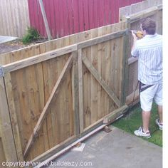 How to make and fit DOUBLE LUMBER GATES and how to offset and align the hinges allowing the gates to open over raised ground.