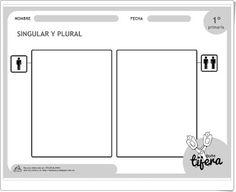 """""""Singular y plural"""" (Fichas de Gramática de 1º de Primaria)"""
