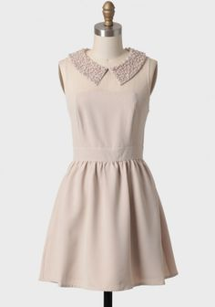 Ellen Dress By Darling UK 124.99 at shopruche.com. A chic holiday staple, this lovely beige dress features a taupe faux pearl and white bead sequined collar. Finished with alluring beige mesh, a hidden back zipper closure, and structuring at the bust and waist. Fully lined.Shell: 95% Polyester, 5% Spandex,...