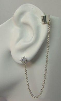MINI Ear Cuff BAJORAN Teen Vogue Chain Earring by earcuffs on Etsy