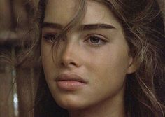 Brooke Shields in Blue Lagoon, Look at those eyebrows! Bild Girls, Beauty Make Up, Hair Beauty, Brooke Shields Young, Straight Eyebrows, Full Eyebrows, Thick Brows, Belleza Natural, Pretty Face