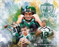 Sports Collage -- Football | Four image sports collage with … | Flickr