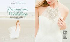 """The Amsale """"Whitney"""" gown takes a trip to Isle of Palms, South Carolina, in a feature shot by @Corbin Gurkin for Charleston Weddings Magazine"""