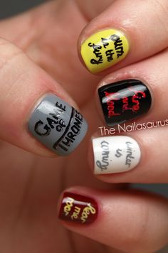 You Win or You Die (Game Of Thrones Nail Art)   The Nailasaurus   UK Nail Art Blog