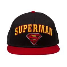 Superman Snapback Hat in Black at Journeys Shoes.