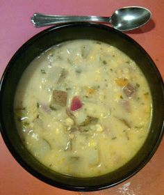 The Dairy-Free Diva: Corn Chowder with Ham - Dairy Free & Gluten Free. Minus the meat, of course.