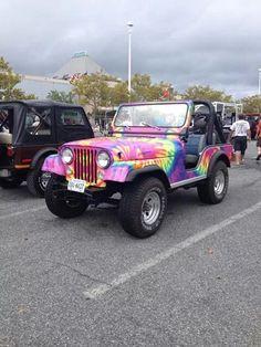 Hippie jeep.