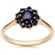 Kolekcja Wiktoriańska - pierścionek z szafirami