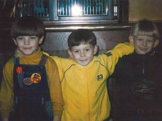 young Louis with his friends