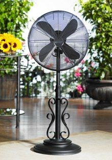 Outdoor Electric Fans By Deco Breeze Floor Patio With Optional