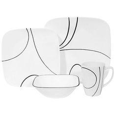 Corelle Simple Lines 16 Pc Dinnerware Set