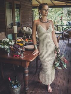 "Handmade Crochet Wedding Dress ""LUNA NUEVA"""