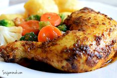 Oven roasted Chicken is one chicken recipe everyone loves though not everyone has the confidence to cook it. This recipe is fail proof and easy to follow.