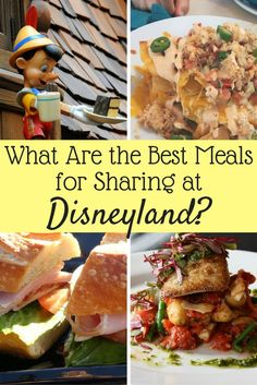 These are the best meals to share at Disneyland! Share a meal to save money at Disney.