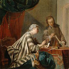 Une femme occupée à cacheter une lettre, 1733, Jean Siméon Chardin