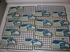 Football Season Is Here- DIY Seahawks Cookies!