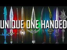 Skyrim - All Rare & Unique One Handed Weapons Skyrim Gif, Skyrim Videos, Skyrim Dragon, Skyrim Funny, Skyrim Tips And Tricks, Who Plays It, Elder Scrolls Skyrim, Video Game Reviews, Games