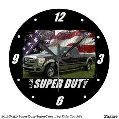 2013 F-250 Super Duty SuperCrew Lariat Long Bed Large Clock
