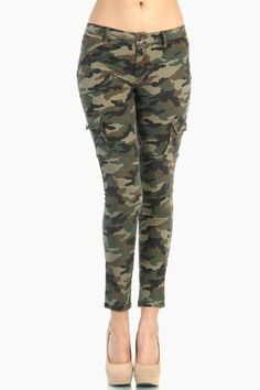 LoveMelrose.com From Harry & Molly | Camo Army Pants with Side Pockets