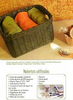 http://artesanatoecozinha.blogspot.com/2009/10/canudos-de-papel-jornal.html  Pap do jornal