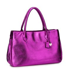 SALE 20 OFF Shiny Lilac Authentic Leather Handbag by Fungalicious, $87.00