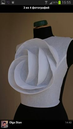 TR sculpture - wonder if it would still work on a small scale, with LOTS of… Sewing Hacks, Sewing Tutorials, Sewing Projects, Draping Techniques, Sewing Techniques, Pattern Cutting, Pattern Making, Dress Patterns, Sewing Patterns