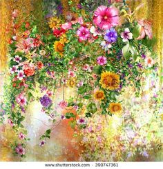 professional watercolor paintings flowers - Google Search
