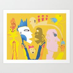 THE BLUE Art Print by Amy Chace - $17.68