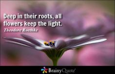 Deep in their roots, all flowers keep the light. - Theodore Roethke Plus more quotes about flowers