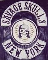 leather jacket of the Savage Skulls gang based in Bronx NY