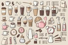 Coffee Clipart by clipick on @creativemarket