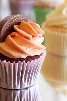 Chocolate Orange Cupcake - i'm pinning this here, mom so you see this!