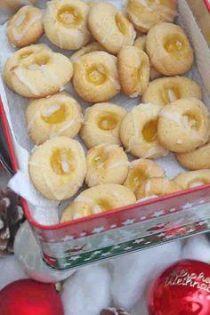 Zitronenküsse mit Lemon Curd - Einfaches und leichtes Weihnachtsplätzchen Rezept 1