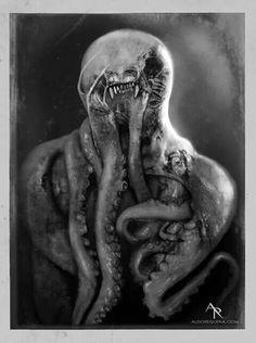 The Bringer of Pestilence ~ (Not Cthulhu but something else) ~ Art by Aldo Requena