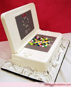 Nintendo DS 'Bejeweled' Groom's Cake by Pink Cake Box