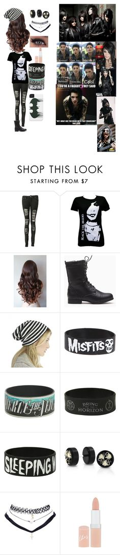 """Black veil brides"" by andysprincess ❤ liked on Polyvore featuring Boohoo, Sole Society, Bling Jewelry, Wet Seal, Rimmel, Reception, CC, women's clothing, women and female"