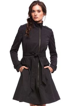 Flared Trenchcoat - New Arrivals - Womens - Armani Exchange