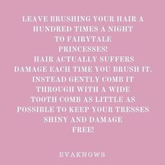 Another great science based beauty tip this Sunday afternoon for all my girlies #beauty #beautyblogger #skincare #haircare #hair #cosmetics #girls #beautiful #blogger #brushing #comb #instalike  #Regram via @evaknowsit