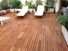 Decking in legno DÉCOTILES by Déco - The Italian Decking Company