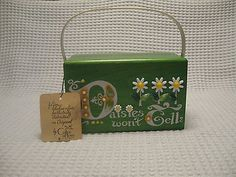 Enid Collins Classic Vintage Box Wooden RARE Green Daisies Wont Tell | eBay