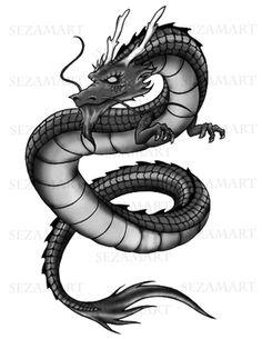 Dragon Digital Image Download x T-shirts Pillows Tea by Sezamart