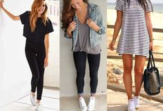 Super how to wear white converse outfits all star Ideas How To Wear White Converse, White Converse Outfits, Winter Outfits For Work, Summer Outfits, Winter Clothes, School Outfits, Stylish Outfits, Cute Outfits, How To Wear Loafers