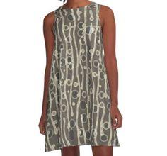 """A-Line Dress, """"Buds"""" by Betty Mackey"""