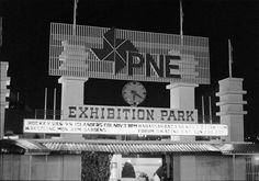Entrance to the PNE in Vancouver, Oct. 1972.